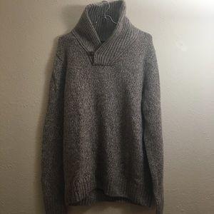 Eddie Bauer Tan Lambs Wool Sweater